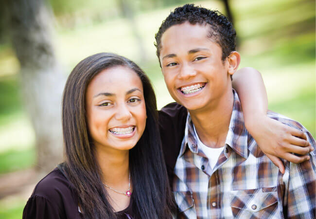 orthodontics in lyte - teens with braces